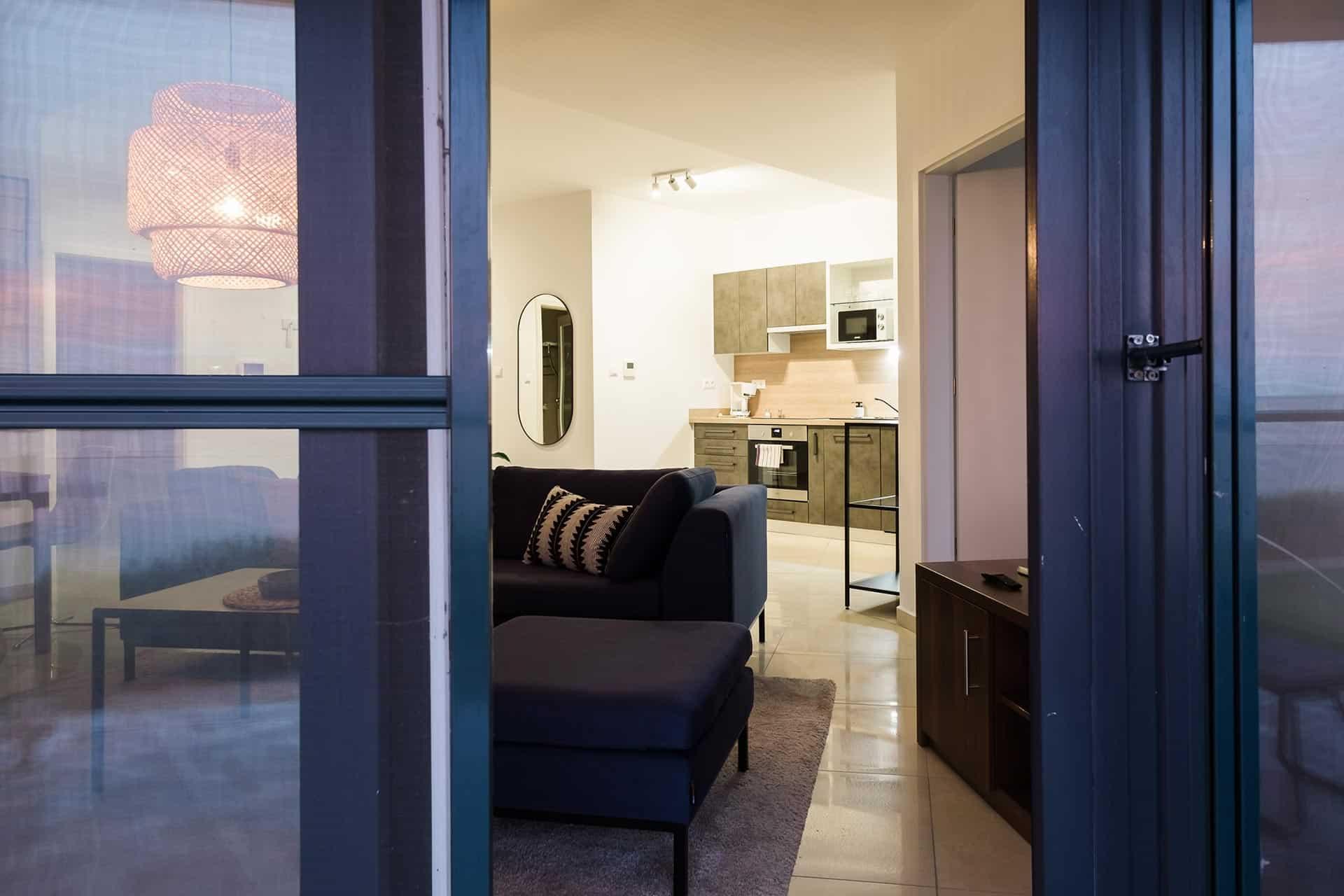 Vízparti balatoni panorámás Apartmanok Keszthely - nappali szoba.